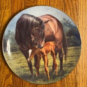 First day mare and foal collector plate